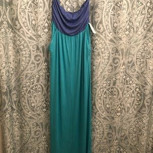 NWT 2 Color Block Maxi Dress- With Pockets